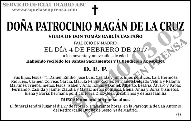 Patrocinio Magán de la Cruz
